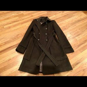 BCBG Max Azria Women's Wool Coat w/Belt